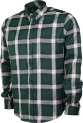 Theories Tartan Flannel Shirt - forest