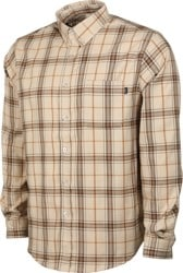 Theories Tartan Flannel Shirt - khaki