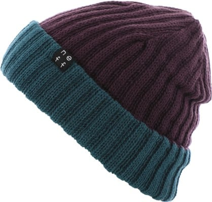 Neff Flippin' Out Reversible Beanie - deep purple/colonial blue - view large