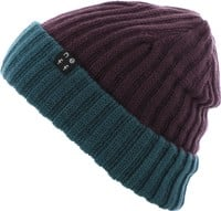Neff Flippin' Out Reversible Beanie - deep purple/colonial blue
