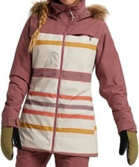 Burton Lelah Insulated Jacket - rose brown/creme brulee woven stripe
