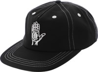 Theories Hand Of Theories Strapback Hat - black contrast stitch