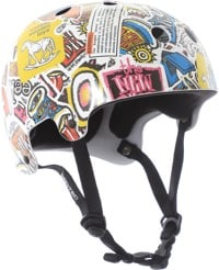 ProTec New Deal Old School Skate Helmet - sticker bomb