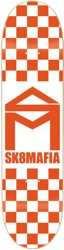 SK8MAFIA House Logo 8.0 Skateboard Deck - orange checker