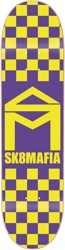 SK8MAFIA House Logo 8.1 Skateboard Deck - yellow checker