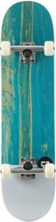 Tactics Icon 8.0 Complete Skateboard - teal deck / raw trucks / white wheels
