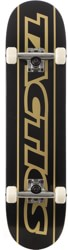 Tactics Throwback 7.75 Complete Skateboard - black/gold