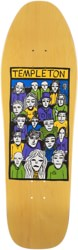 New Deal Templeton Crowd 10.125 LTD Screen Print Skateboard Deck - yellow