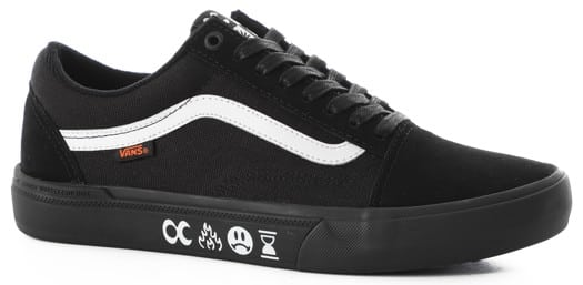 Vans Old Skool Pro BMX Skate Shoes - (cult) black/black - view large