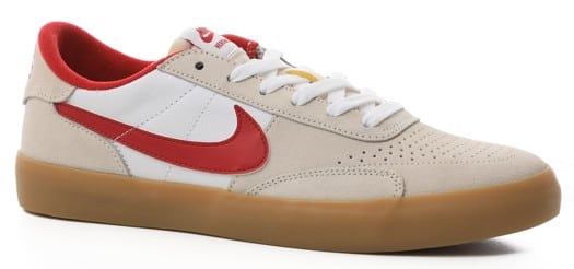 Nike SB Heritage Vulc Skate Shoes - summit white/cardinal red-white - view large