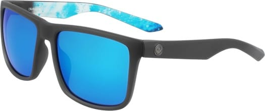 Dragon Meridien Sunglasses - matte grey/permafrost/blue ion lumalens - view large