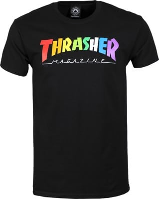 Thrasher Rainbow Mag T-Shirt - black - view large