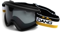 Dang Shades OG Snow Goggles + Bonus Lens - black w mountain strap/black smoke + clear lens