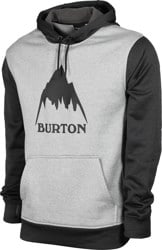 Burton Oak Hoodie - gray heather/true black