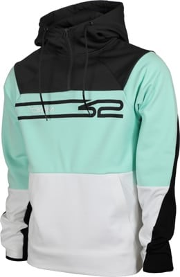 Thirtytwo Signature Repel Tech Hoodie - white/mint - view large