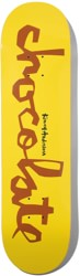 Chocolate Anderson Original Chunk 8.25 Skateboard Deck - yellow/brown