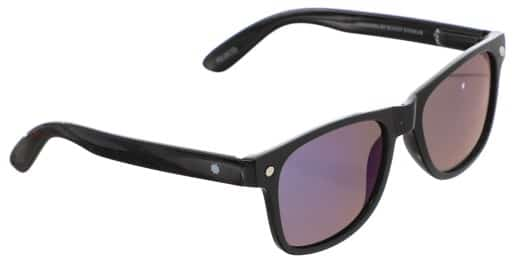 Glassy Leonard Polarized Sunglasses - black/blue mirror polarized lens - view large
