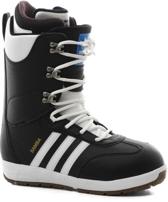 Adidas Samba ADV Snowboard Boots 2021 - core black/footwear white/gold metallic - view large