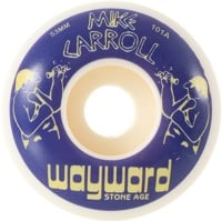 Wayward Wheels Carroll Funnel Shape Skateboard Wheels - white (101a)
