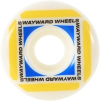 Wayward Wheels Waypoint Funnel Shape Skateboard Wheels - white (83b)