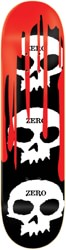 Zero 3 Skull Blood 8.0 Skateboard Deck - red
