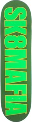 SK8MAFIA OG Logo 8.5 Skateboard Deck - highlight green