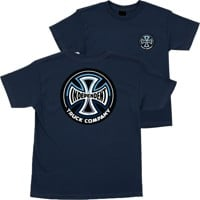 Independent Kids Split Cross T-Shirt - navy