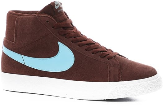 Nike SB Zoom Blazer Mid Skate Shoes - mystic dates/glacier ice-mystic dates - view large