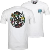 Santa Cruz Dressen Pup Dot T-Shirt - white