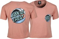 Santa Cruz Women's Wave Dot T-Shirt - desert pink