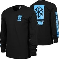 Protect Our Winters POW Stacked Logo L/S T-Shirt - black