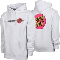 Santa Cruz Other Dot Hoodie - white/pink