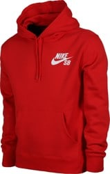 Nike SB Icon Essential Hoodie - university red/white