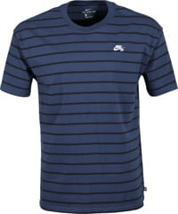 Nike SB Yarn Dye Stripe T-Shirt - midnight navy/black