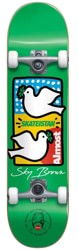 Almost Double Doves Skateistan 7.5 Complete Skateboard - green
