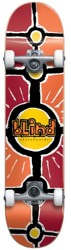 Blind Round Space V2 Mini 7.0 Complete Skateboard - red/orange