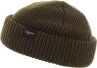 Autumn Shorty Double Roll Beanie - army green