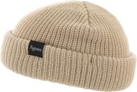 Autumn Shorty Double Roll Beanie - natural