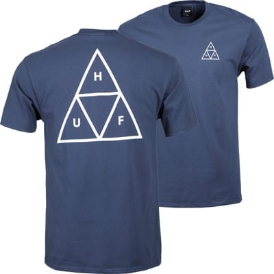 HUF Essentials Triple Triangle T-Shirt - navy - view large