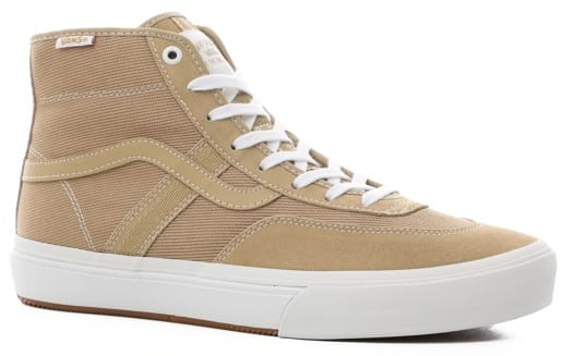 Vans Crockett Pro High Top Skate Shoes - incense/white - view large
