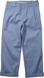 Dickies Women's Work Crop Roll Hem Pants - chambray