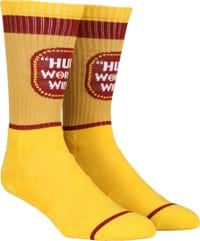 HUF Brown Bag Sock - yellow