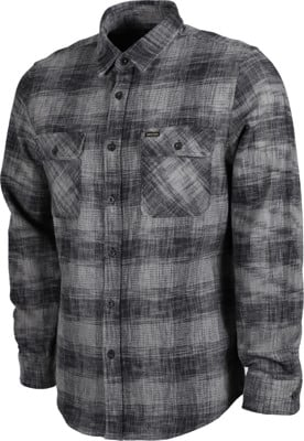 Brixton Bowery Reserve Flannel Shirt - black/grey mix - view large