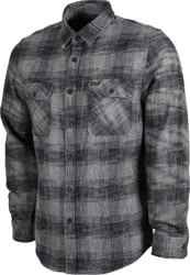 Brixton Bowery Reserve Flannel Shirt - black/grey mix