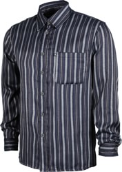 Passport Workers Stripes L/S Shirt - navy