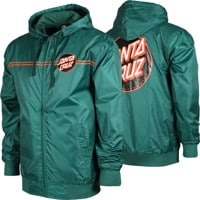 Santa Cruz Dot Hooded Windbreaker - forest green