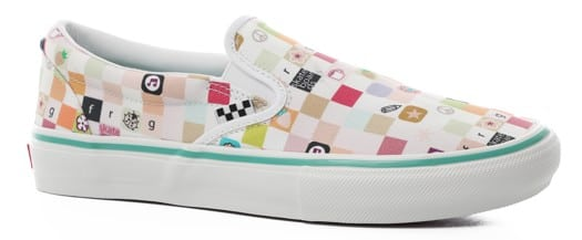 Vans Skate Slip-On Shoes - (frog) white/white - view large