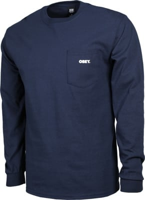 Obey Bold Pocket L/S T-Shirt - navy - view large