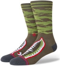 Stance Warbird Infiknit Sock - olive