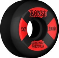 Bones 100's OG Formula V5 Sidecut Skateboard Wheels - black/red #4